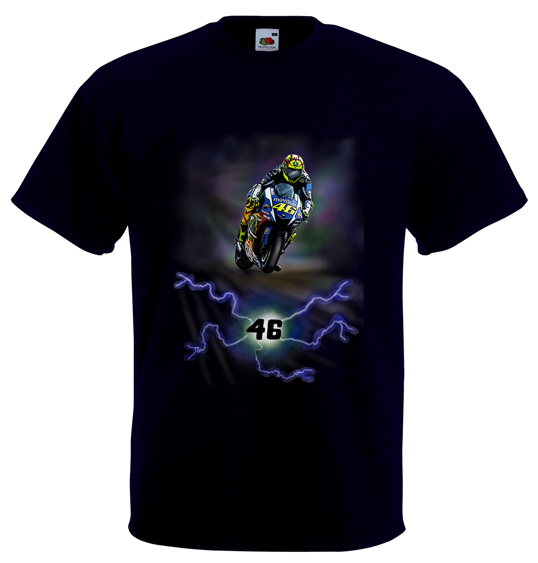 airbrushed valentino rossi t shirt in all kids sizes ebay. Black Bedroom Furniture Sets. Home Design Ideas